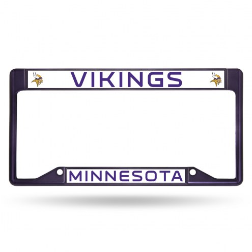 Minnesota Vikings Colored Chrome License Plate Frame