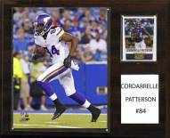 "Minnesota Vikings Cordarrelle Patterson 12"" x 15"" Player Plaque"