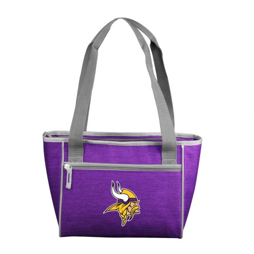 Minnesota Vikings Crosshatch 16 Can Cooler Tote