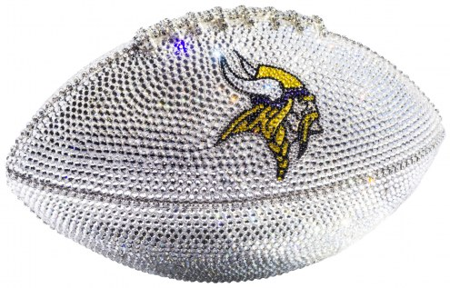 Minnesota Vikings Swarovski Crystal Football