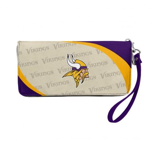 Minnesota Vikings Curve Zip Organizer Wallet