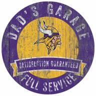 Minnesota Vikings Dad's Garage Sign
