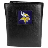 Minnesota Vikings Deluxe Leather Tri-fold Wallet in Gift Box