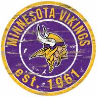 Minnesota Vikings Distressed Round Sign