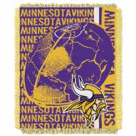 Minnesota Vikings Double Play Jacquard Throw Blanket