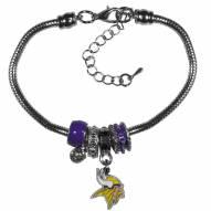 Minnesota Vikings Euro Bead Bracelet