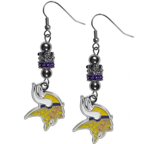 Minnesota Vikings Euro Bead Earrings