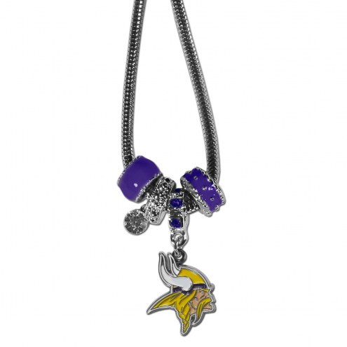 Minnesota Vikings Euro Bead Necklace