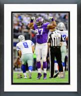 Minnesota Vikings Everson Griffen Action Framed Photo