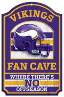 Minnesota Vikings Fan Cave Wood Sign