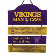 Minnesota Vikings Man Cave Fan Zone Wood Sign