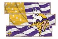 Minnesota Vikings Flag 3 Plank Sign
