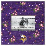 """Minnesota Vikings Floral 10"""" x 10"""" Picture Frame"""