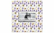 """Minnesota Vikings Floral Pattern 10"""" x 10"""" Picture Frame"""