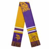 Minnesota Vikings Colorblock Big Logo Scarf