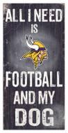 Minnesota Vikings Football & My Dog Sign