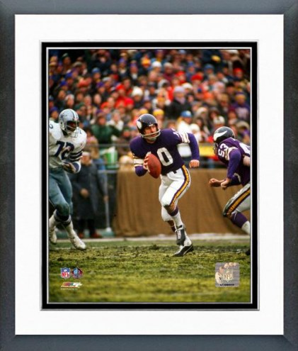 Minnesota Vikings Fran Tarkenton Framed Photo