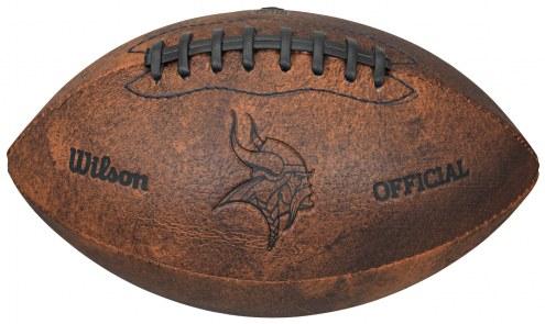 Minnesota Vikings Vintage Throwback Football