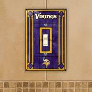 Minnesota Vikings Glass Single Light Switch Plate Cover