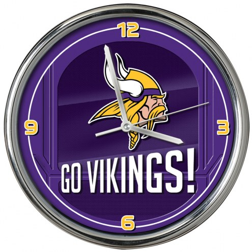 Minnesota Vikings Go Team Chrome Clock