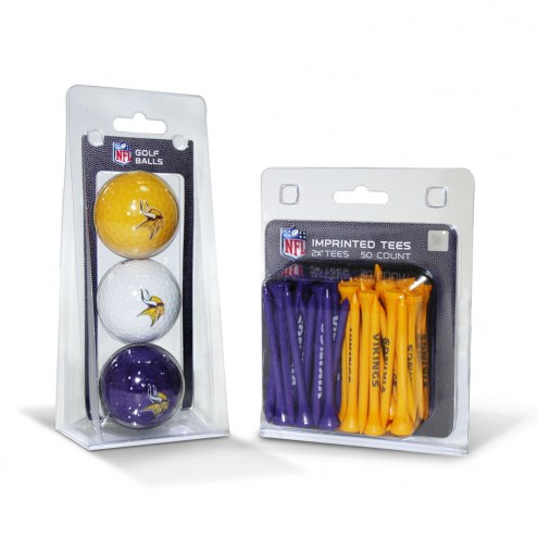 Minnesota Vikings Golf Ball & Tee Pack
