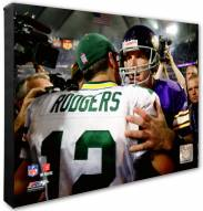Minnesota Vikings & Green Bay Packers Brett Favre & Aaron Rodgers Action Photo
