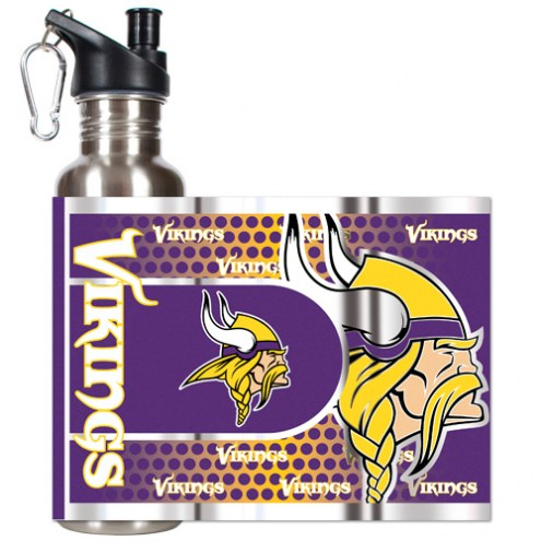 Minnesota Vikings Hi-Def Stainless Steel Water Bottle