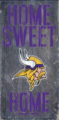 Minnesota Vikings Home Sweet Home Wood Sign