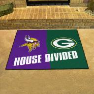 Minnesota Vikings/Green Bay Packers House Divided Mat