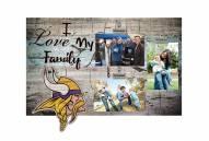 Minnesota Vikings I Love My Family Clip Frame