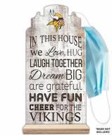 Minnesota Vikings In This House Mask Holder