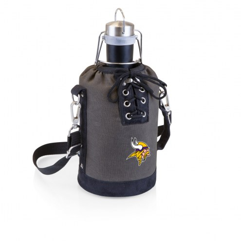 Minnesota Vikings Insulated Growler Tote with 64 oz. Stainless Steel Growler