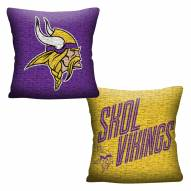 Minnesota Vikings Invert Woven Pillow