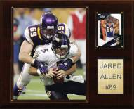 "Minnesota Vikings Jared Allen 12 x 15"" Player Plaque"