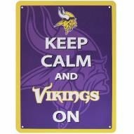 Minnesota Vikings Keep Calm Sign