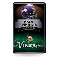Minnesota Vikings Large Embossed Metal Wall Sign