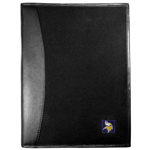 Minnesota Vikings Leather and Canvas Padfolio