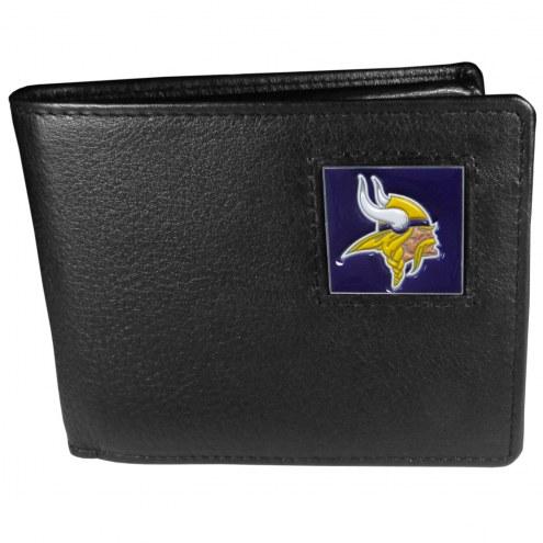 Minnesota Vikings Leather Bi-fold Wallet