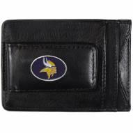 Minnesota Vikings Leather Cash & Cardholder
