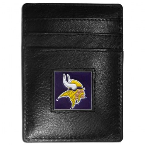 Minnesota Vikings Leather Money Clip/Cardholder