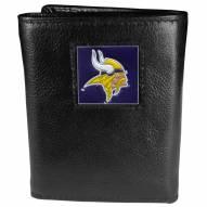 Minnesota Vikings Leather Tri-fold Wallet