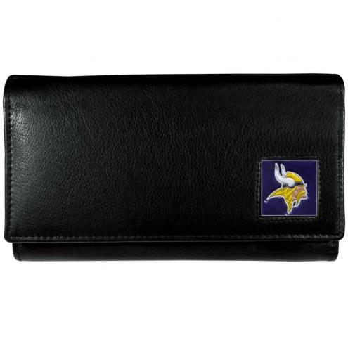 Minnesota Vikings Leather Women's Wallet