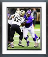 Minnesota Vikings Linval Joseph Action Framed Photo
