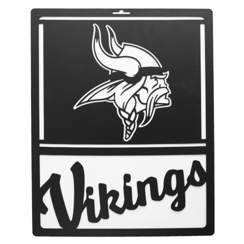 Minnesota Vikings Metal Team Sign
