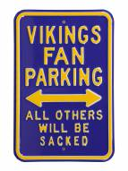 Minnesota Vikings NFL Authentic Parking Sign