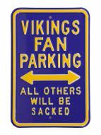 Minnesota Vikings NFL Authentic Parking Sign
