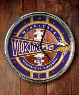Minnesota Vikings NFL Chrome Wall Clock