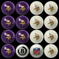 Minnesota Vikings NFL Home vs. Away Pool Ball Set