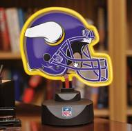 Minnesota Vikings Neon Helmet Desk Lamp