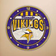 Minnesota Vikings NFL Stained Glass Wall Clock